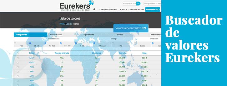 Buscador de valores: la herramienta estrella entre los inversores de Eurekers