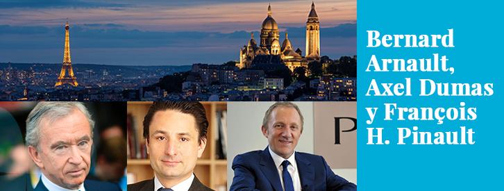 No son los empresarios más ricos de Europa, ya que este ranking lo encabezan el cofundador de Inditex, Amancio Ortega (más de 66 mil millones de euros) y el fundador de Ikea, Ingvar Kamprad (más de 65 mil millones de euros). Sin embargo, la prosperidad de los negocios capitaneados por los franceses Bernard Arnault, Axel Dumas y François-Henri Pinault son la prueba de que el mercado del lujo no solo no ha entrado en recesión en los peores años de la crisis internacional, sino que ha crecido.