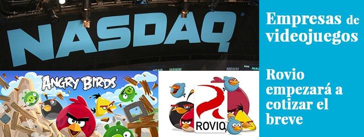 """Los famosos """"Angry Birds"""" están a punto de empezar a revolotear por los mercados financieros. La compañía finlandesa de videojuegos Rovio, creadora de estos personajes que también han triunfado en el cine y en una amplia gama de productos, confirmó hace poco su inminente salida a bolsa en el mercado de Valores Nasdaq de Helsinki."""