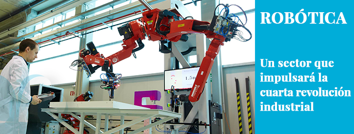 Aunque abundan los mensajes que apuntan a la robotización como una amenaza para el empleo y, como consecuencia, para la Economía, recientes estudios nos muestran a la Robótica como un sector en auge que impulsará la Cuarta Revolución Industrial y que generará numerosos puestos de trabajo.