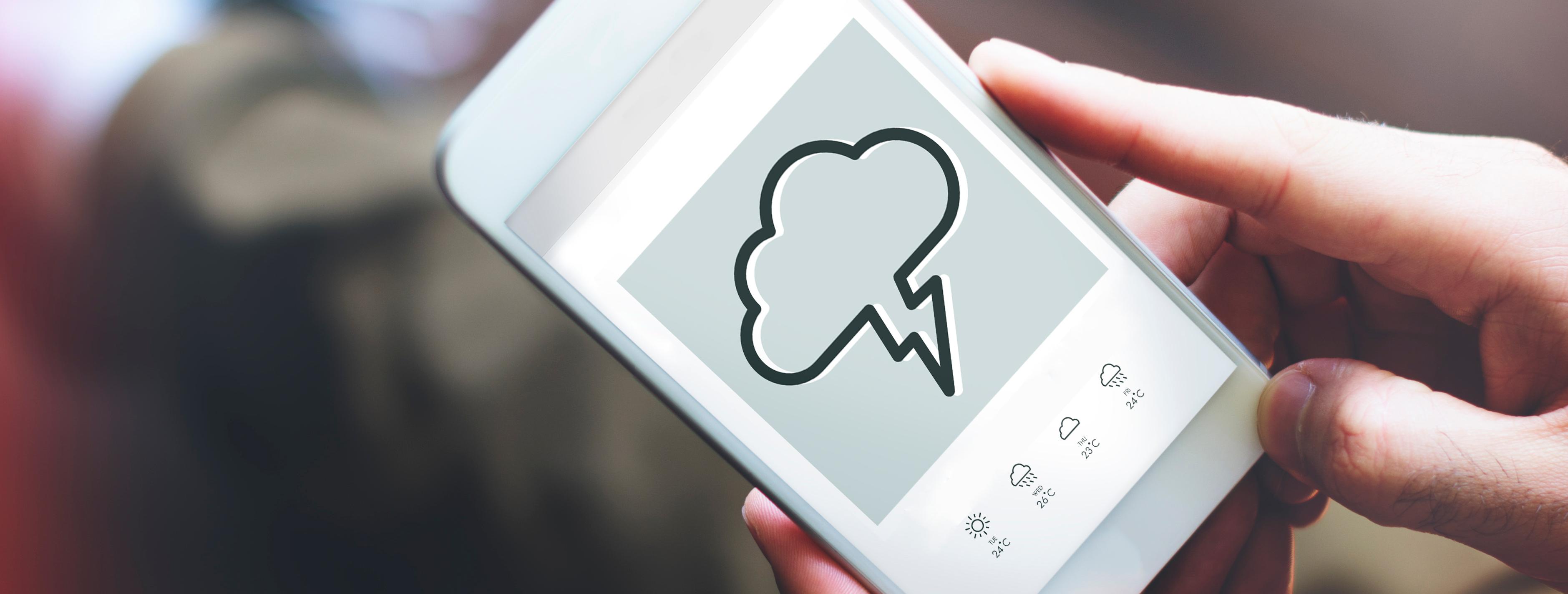 Una empresa plantea un sistema de predicciones meteorológicas basándose en datos de dispositivos móviles y sin utilizar satélites