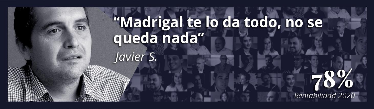 Javier Madrigal te lo da todo no se queda nada